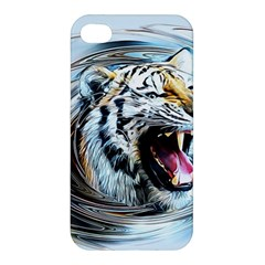 Tiger Animal Art Swirl Decorative Apple Iphone 4/4s Hardshell Case by Nexatart