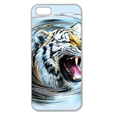 Tiger Animal Art Swirl Decorative Apple Seamless Iphone 5 Case (clear) by Nexatart