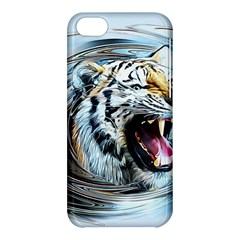 Tiger Animal Art Swirl Decorative Apple Iphone 5c Hardshell Case