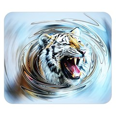 Tiger Animal Art Swirl Decorative Double Sided Flano Blanket (small)