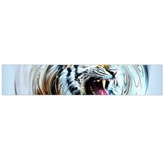 Tiger Animal Art Swirl Decorative Large Flano Scarf  by Nexatart