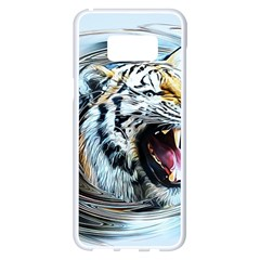 Tiger Animal Art Swirl Decorative Samsung Galaxy S8 Plus White Seamless Case by Nexatart