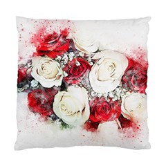 Flowers Roses Bouquet Art Nature Standard Cushion Case (one Side) by Nexatart