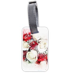 Flowers Roses Bouquet Art Nature Luggage Tags (one Side)