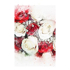Flowers Roses Bouquet Art Nature Shower Curtain 48  X 72  (small)  by Nexatart