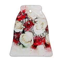 Flowers Roses Bouquet Art Nature Ornament (bell)