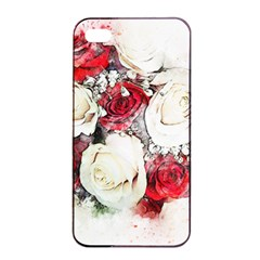 Flowers Roses Bouquet Art Nature Apple Iphone 4/4s Seamless Case (black) by Nexatart
