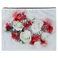 Flowers Roses Bouquet Art Nature Cosmetic Bag (xxxl)