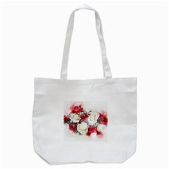 Flowers Roses Bouquet Art Nature Tote Bag (white) by Nexatart