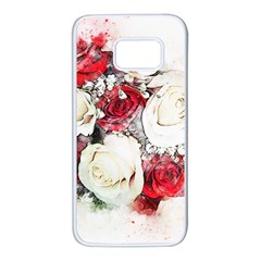 Flowers Roses Bouquet Art Nature Samsung Galaxy S7 White Seamless Case by Nexatart