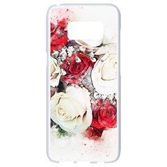 Flowers Roses Bouquet Art Nature Samsung Galaxy S8 White Seamless Case by Nexatart