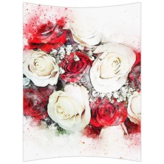 Flowers Roses Bouquet Art Nature Back Support Cushion