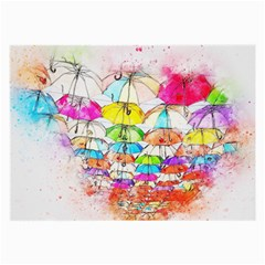 Umbrella Art Abstract Watercolor Large Glasses Cloth (2 Side)