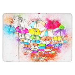 Umbrella Art Abstract Watercolor Samsung Galaxy Tab 8 9  P7300 Flip Case