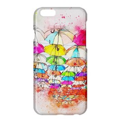Umbrella Art Abstract Watercolor Apple Iphone 6 Plus/6s Plus Hardshell Case by Nexatart
