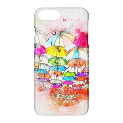 Umbrella Art Abstract Watercolor Apple Iphone 7 Plus Hardshell Case