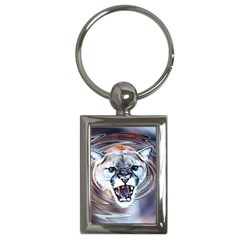 Cougar Animal Art Swirl Decorative Key Chains (rectangle)