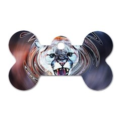 Cougar Animal Art Swirl Decorative Dog Tag Bone (one Side) by Nexatart