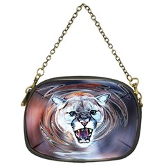 Cougar Animal Art Swirl Decorative Chain Purses (one Side)  by Nexatart