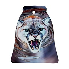 Cougar Animal Art Swirl Decorative Bell Ornament (two Sides) by Nexatart