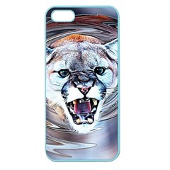 Cougar Animal Art Swirl Decorative Apple Seamless Iphone 5 Case (color) by Nexatart