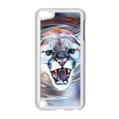 Cougar Animal Art Swirl Decorative Apple Ipod Touch 5 Case (white) by Nexatart