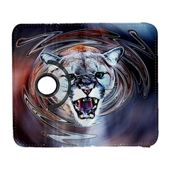 Cougar Animal Art Swirl Decorative Galaxy S3 (flip/folio) by Nexatart
