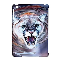 Cougar Animal Art Swirl Decorative Apple Ipad Mini Hardshell Case (compatible With Smart Cover) by Nexatart