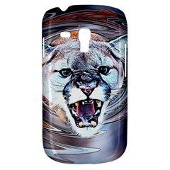 Cougar Animal Art Swirl Decorative Galaxy S3 Mini by Nexatart