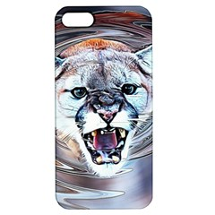Cougar Animal Art Swirl Decorative Apple Iphone 5 Hardshell Case With Stand by Nexatart