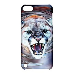 Cougar Animal Art Swirl Decorative Apple Ipod Touch 5 Hardshell Case With Stand by Nexatart