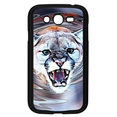 Cougar Animal Art Swirl Decorative Samsung Galaxy Grand Duos I9082 Case (black) by Nexatart