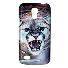 Cougar Animal Art Swirl Decorative Galaxy S4 Mini by Nexatart