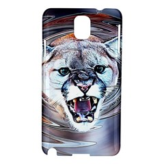 Cougar Animal Art Swirl Decorative Samsung Galaxy Note 3 N9005 Hardshell Case by Nexatart