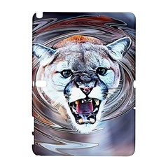 Cougar Animal Art Swirl Decorative Galaxy Note 1 by Nexatart