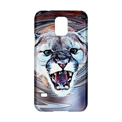Cougar Animal Art Swirl Decorative Samsung Galaxy S5 Hardshell Case  by Nexatart