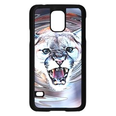 Cougar Animal Art Swirl Decorative Samsung Galaxy S5 Case (black) by Nexatart
