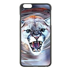 Cougar Animal Art Swirl Decorative Apple Iphone 6 Plus/6s Plus Black Enamel Case by Nexatart
