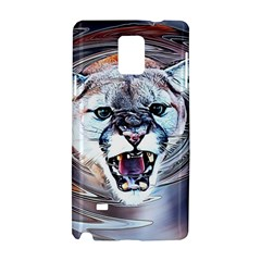 Cougar Animal Art Swirl Decorative Samsung Galaxy Note 4 Hardshell Case by Nexatart
