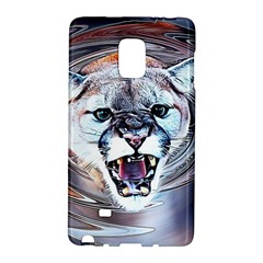 Cougar Animal Art Swirl Decorative Galaxy Note Edge by Nexatart