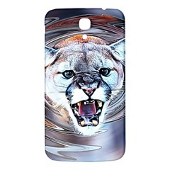 Cougar Animal Art Swirl Decorative Samsung Galaxy Mega I9200 Hardshell Back Case by Nexatart