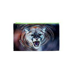 Cougar Animal Art Swirl Decorative Cosmetic Bag (xs)