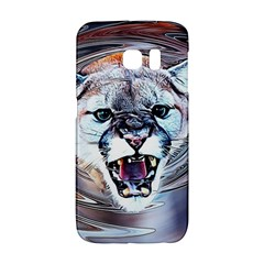 Cougar Animal Art Swirl Decorative Galaxy S6 Edge by Nexatart