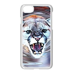 Cougar Animal Art Swirl Decorative Apple Iphone 7 Seamless Case (white) by Nexatart