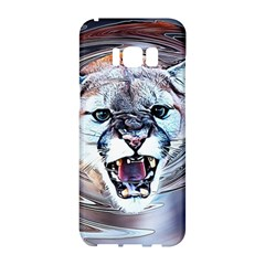Cougar Animal Art Swirl Decorative Samsung Galaxy S8 Hardshell Case  by Nexatart