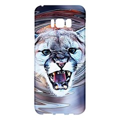 Cougar Animal Art Swirl Decorative Samsung Galaxy S8 Plus Hardshell Case  by Nexatart