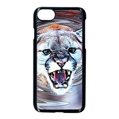 Cougar Animal Art Swirl Decorative Apple Iphone 8 Seamless Case (black) by Nexatart