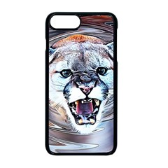 Cougar Animal Art Swirl Decorative Apple Iphone 8 Plus Seamless Case (black) by Nexatart