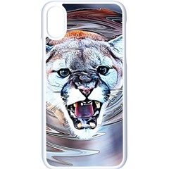 Cougar Animal Art Swirl Decorative Apple Iphone X Seamless Case (white)