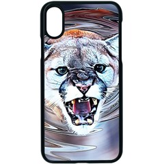 Cougar Animal Art Swirl Decorative Apple Iphone X Seamless Case (black) by Nexatart